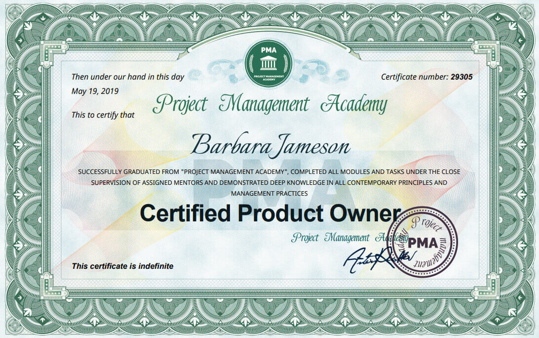 Сертификат и курс за Certified Product Owner