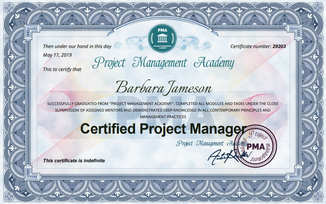 Сертификат и курс за Certified Project Manager