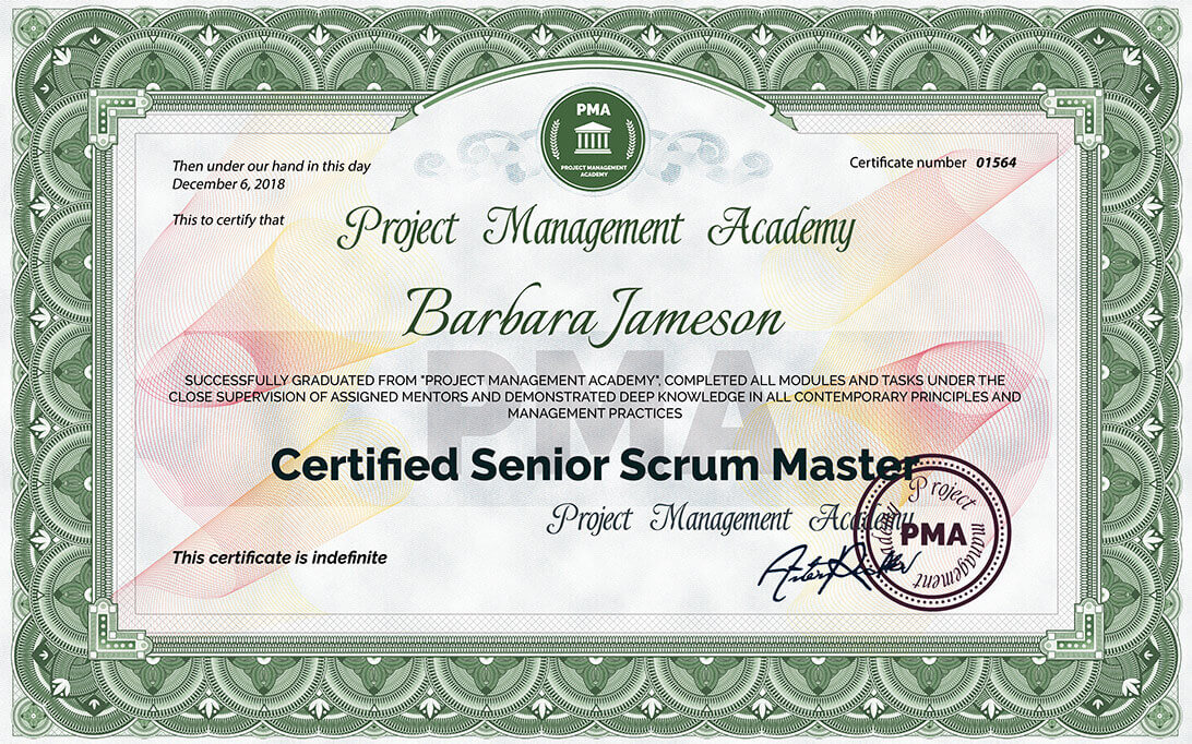 Certified Senior Scrum Master