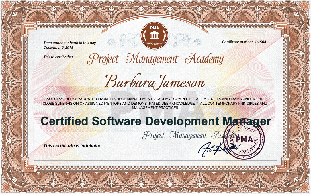Certified Software Development Manager